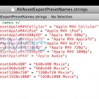 iOS 5 SDK Video Export Strings